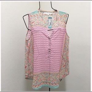 NEW Stitch Fix Alannah Henley Sleeveless Blouse XL